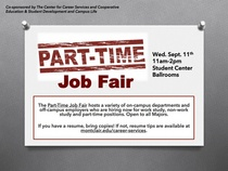 Part time job fair pp flyer jpeg cv