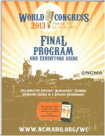 Ncma wc2013 program cv