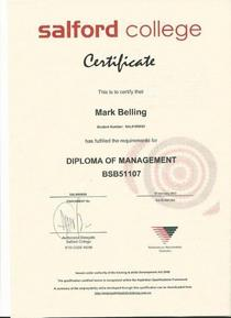 M belling diploma of management cv