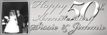 Happy 50th anniversary   sissie jimmie banner 30x72 cv