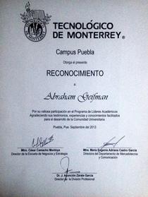 Diploma puebla 2 cv