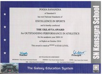 Outstanding performance in athletics cv