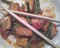 Citrus ginger braised tofu and vegetables cv