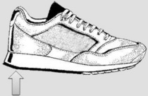 Running shoe heel and arrow small cv