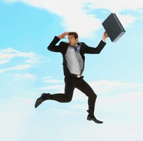 Businessman jumping cv