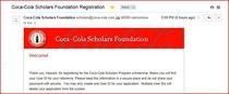 Scholarship coca cola  cv