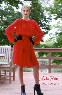 Red dress opener cv