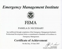 Fema certificate of achievement professional development 2  cv