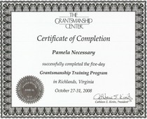 Grantsmanship foundation certification 2  cv