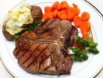 Grass fed beef grilled t bone steak cv