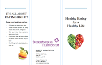 Healthy eating brochure cv