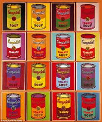 Campbells soups andy warhol 4 cv