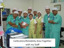Calibration reliability area staff cv