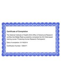 Nih research certificate cv