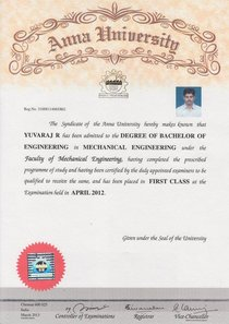 Degree certificate compressed cv