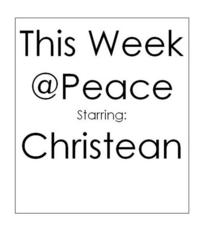 This week at peace cv