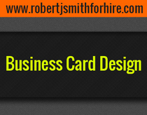 Business card design cv