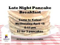 Late night pancake breakfast cv