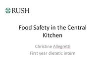 Food safety powerpoint cv