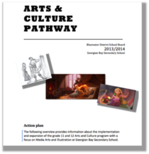 Arts and culture pathway plan title page cv