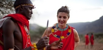 Maasai warrior training in kenya cv