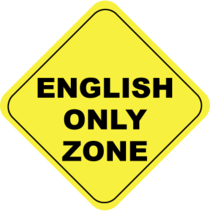 English only zone cv