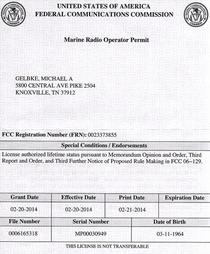 Radio operator permit cv