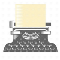 Antique typewriter download royalty free vector file eps 1813 cv
