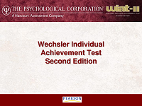 Cv the wechsler individual achievement test second edition cv