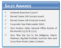 Salesawards cv