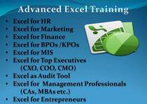 Adv excel training cv
