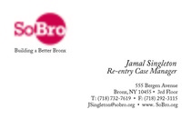 Business card for sobro jamalfront cv