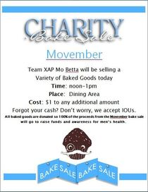Movemeber charity bake sale cv