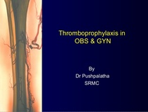 Thromboprophylaxis cv