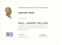 Paul harris fellow cv