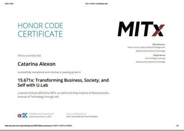 U.lab certificate cv