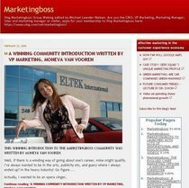 Marketingboss blog frontpage cv