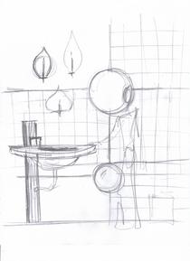 Bathroom sink cv