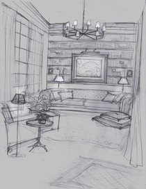 Loft living room night copy cv