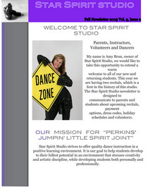 Dance studio newsletter 1 cv