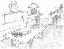 Elegant coffee table cv
