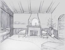 Fireplace bedroom day cv