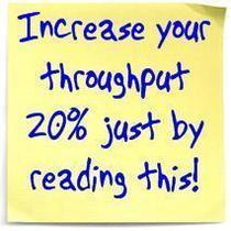 Post it note   increase your throughput 20  just by reading this cv