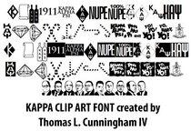 Kappa font table cv