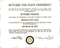 Michael s college degree duotone cv