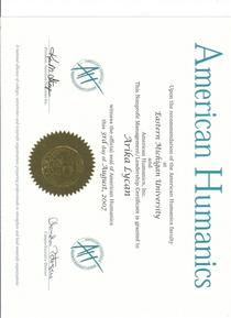 Ah certificate cv