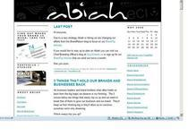 Abiah blog screenshot cv