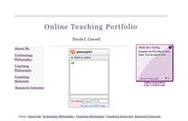 Onlineteachingportfolio cv