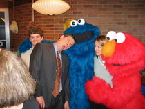 Kevin with cookie monster cv