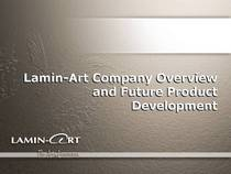 Lamin art corporate presentation cv